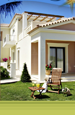 Christy's Villas provide private garden and balcony areas for each Villa aprtment. The Villas with balconies upstairs have magnificent sea views