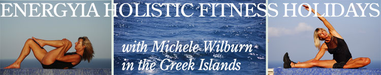Michele Wilburn hosting Energyia holisitc fitness activity holidays in Zakynthos Greek Islands during the summer