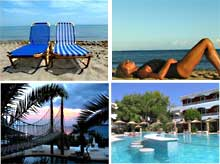 Choose accommoation in several locations for your Energyia holistic fitness holiday retreat in Zakynthos in the Greek islands with Michele Wilburn